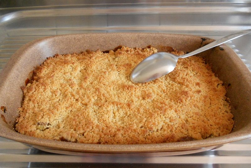 Crumble rhubarbe et pommes
